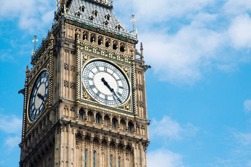 Uhr des Big Ben in London